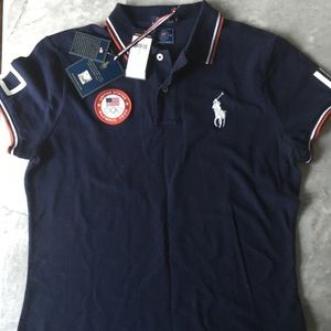 USA Olympic Team 2016 Ralph Lauren Polo Size L